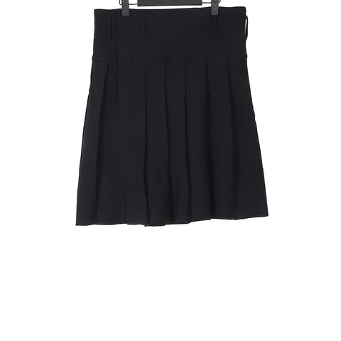 COMME DES GARCONS HOMME PLUS AW12 BLACK POLYESTER PLEATED SKIRT
