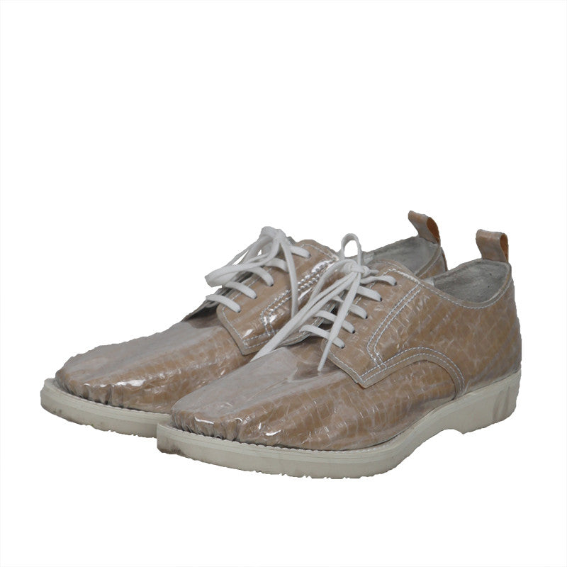 COMME DES GARCONS 15AW PAPER BAG PVC SHELL LACE UP OXFORDS