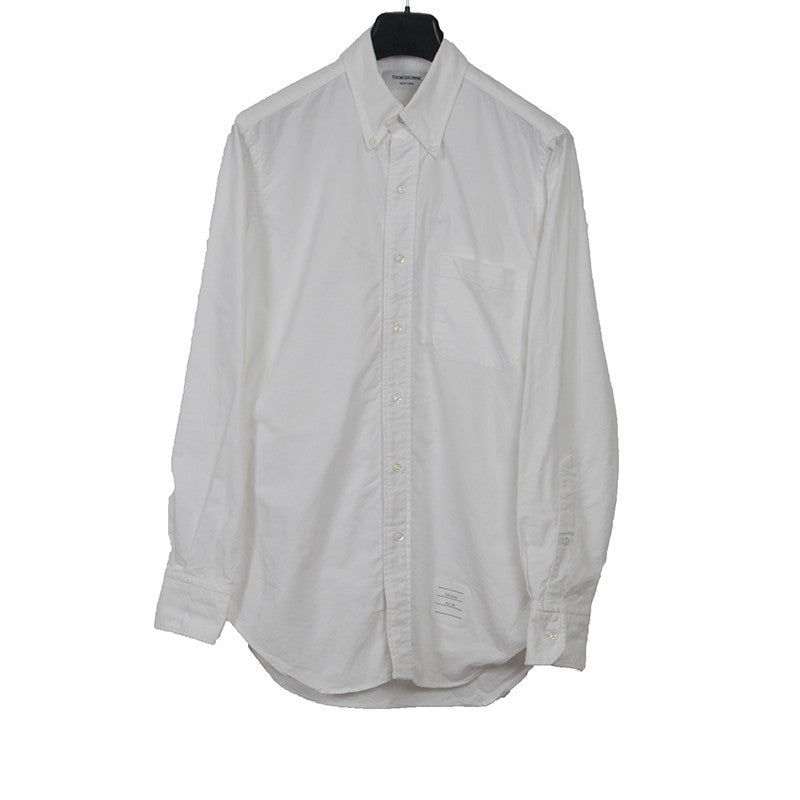 THOM BROWNE SIGNATURE TRIPLE COLOR GROSGRAIN BUTTON DOWN SHIRT