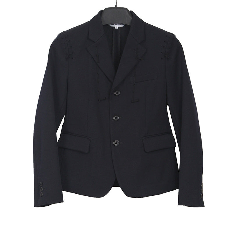 COMME DES GARCONS COMME DES GARCONS 15AW WOOL SEWING SEAM STITCH DETAIL BLAZER
