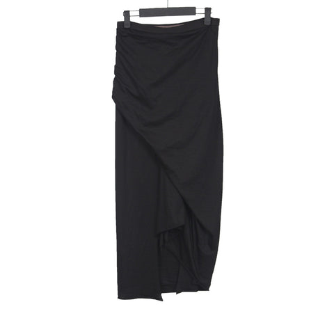 RICK OWENS LILIES DRAPED STRETCH JERSEY MAXI SKIRT