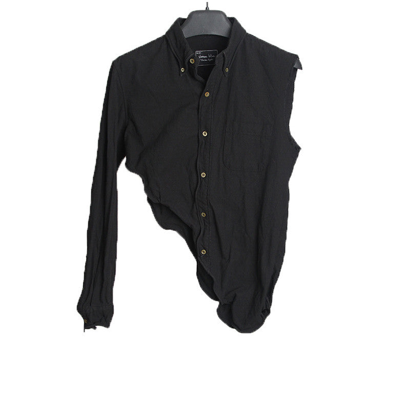 NUMBER (N)INE 05SS WIRE EDGE HALF SHIRT