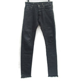 DRKSHDW BY RICK OWENS PATCHED LEATHER BACK DENIM JEAN