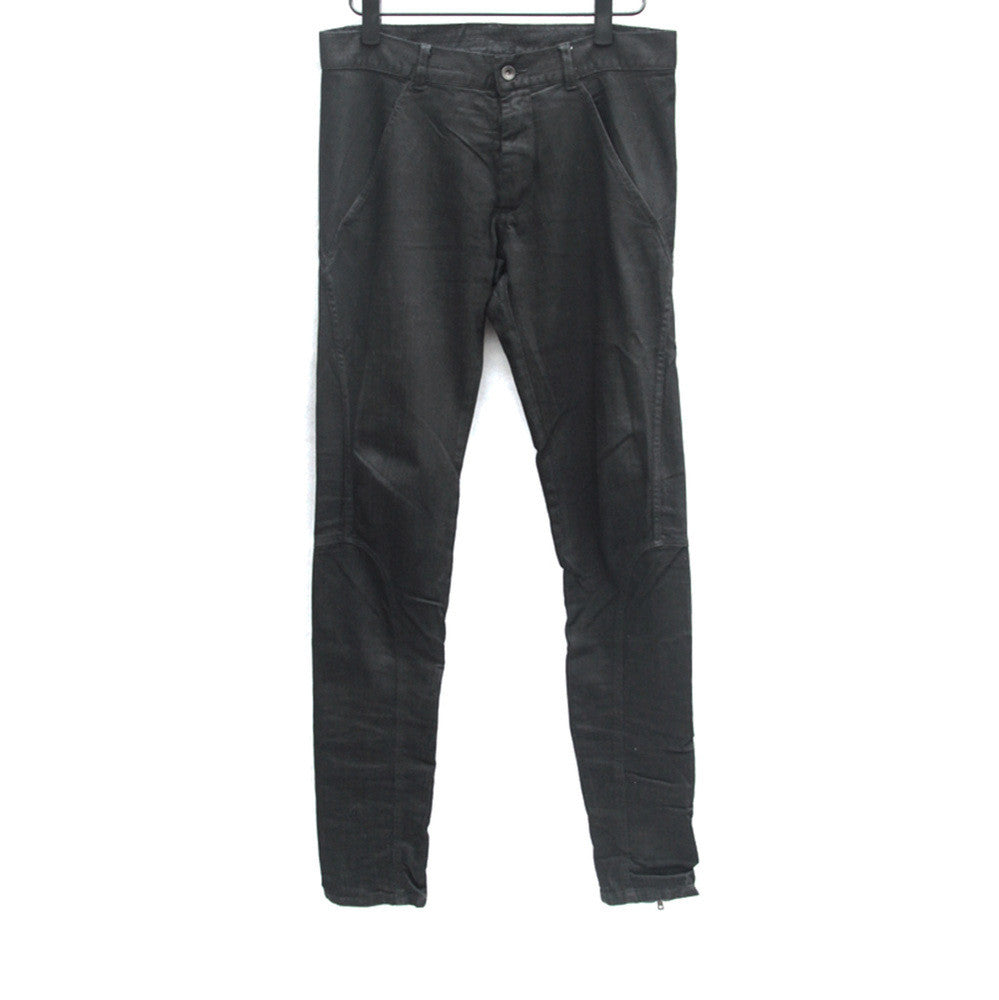GARETH PUGH COATED ZIPPER LEG SKINNY DENIM JEAN