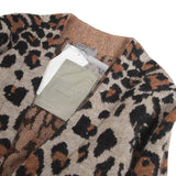 YOHJI YAMAMOTO POUR HOMME 13AW LEOPARD BELTED MOHAIR WOOL KNIT COAT