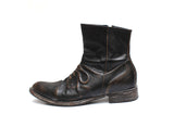 MIHARAYASUHIRO FAUX LAYERED SIDE ZIP BOOT W/ HIDDEN DETAILS