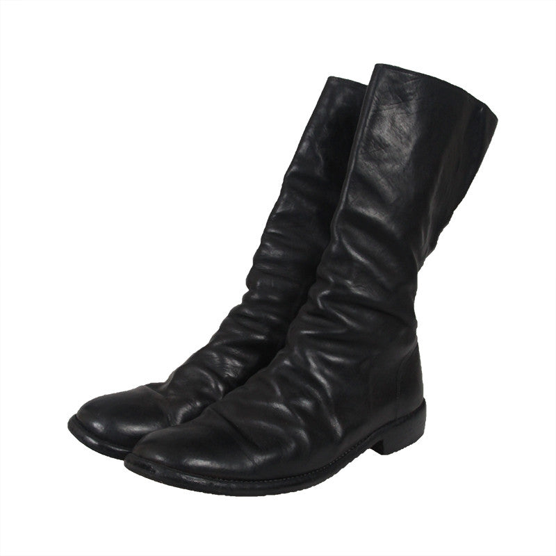 GUIDI 699 HORSE FULL GRAIN LEATHER SIDE ZIP BOOTS