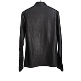 MA+ MAURIZIO AMADEI ONE PIECE CALF LEATHER SHIRT