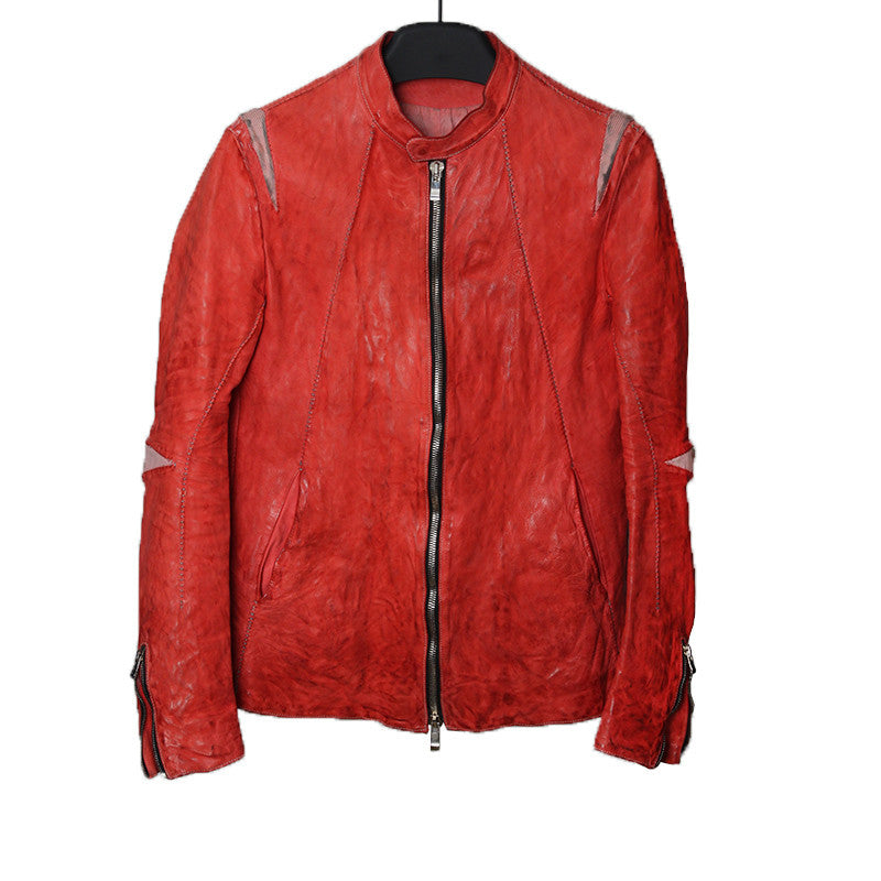 INCARNATION CALF LEATHER MOTO JACKET