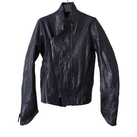 JULIUS_7 14AW NEO PERFECTO GOAT LEATHER BIKER JACKET