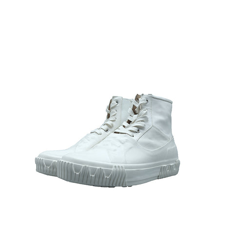 BOTH Paris White Galosh High-top with heavy foxing Sneaker