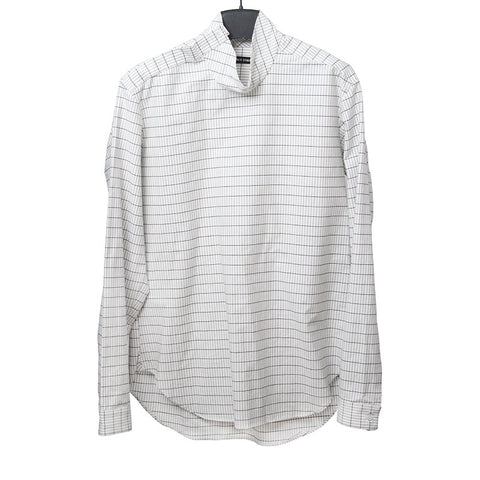 DAMIR DOMA FW13 HIGH BUTTON COLLAR CHECK SHIRT