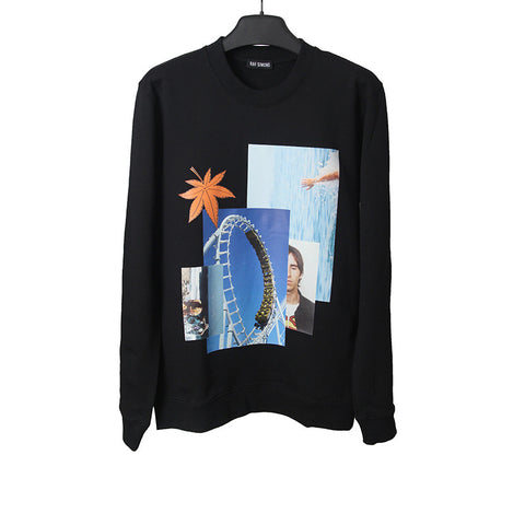 RAF SIMONS SS15 SPLICING PRINTING SWEATER