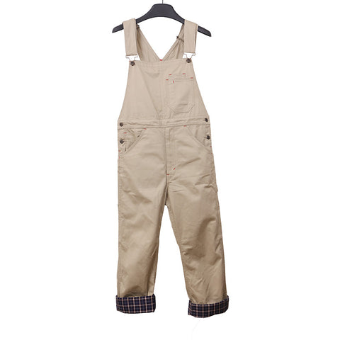 JUNYA WATANABE COMME DES GARCONS MAN 12SS SUSPENDER OVERALL WITH PLAID INNER LAYER