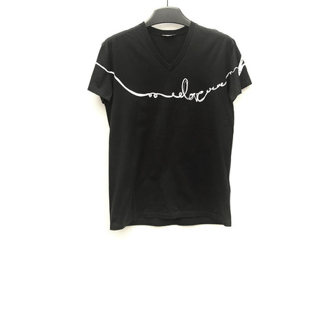 DIOR HOMME LOVE GRAPHIC V-NECK TEE