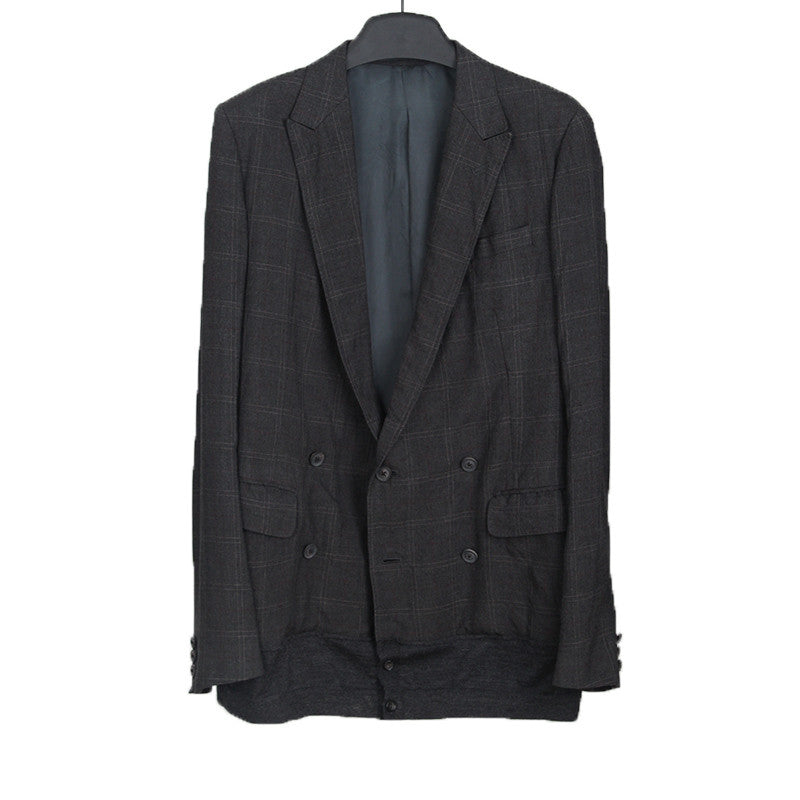 KOLOR AW12 DOUBLE BREASTED CHECK BLAZER JACKET