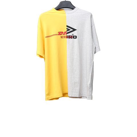 VETEMENTS X UMBRO LIMITED EDTION CUT UP COTTON MULT COLOR T-SHIRT