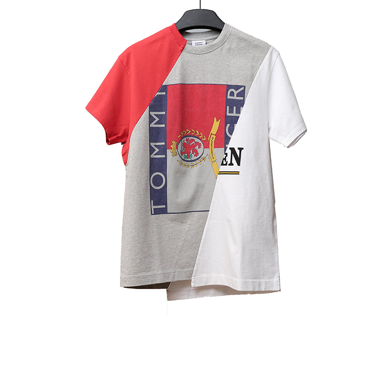 VETEMENTS X TOMMY HILFIGER  LIMITED EDTION STITCHING COTTON MULT COLOR T-SHIRT