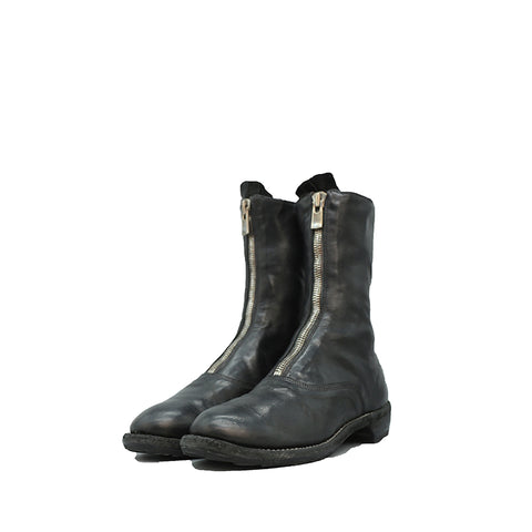 GUIDI 310 BLACK HORSE FULL GRAIN LEATHER FRONT ZIP BOOT