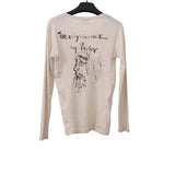 YOHJI YAMAMOTO 16AW SELF PORTRAIT BACK PRINT LONG SLEEVE HENLEY TOP