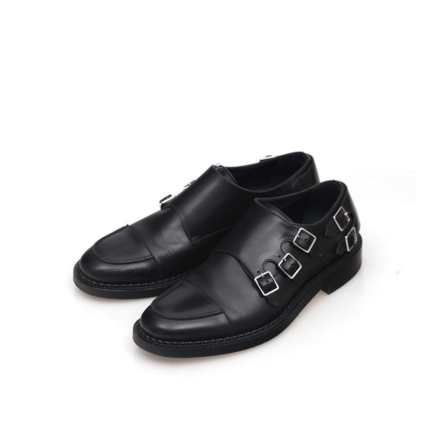 DIOR HOMME QUINTUPLING MONK LEATHER SHOES