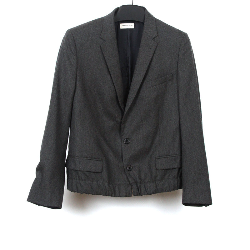 DRIES VAN NOTEN WOOL ELASTICITY BANDED BOTTOM SHORT BLAZER
