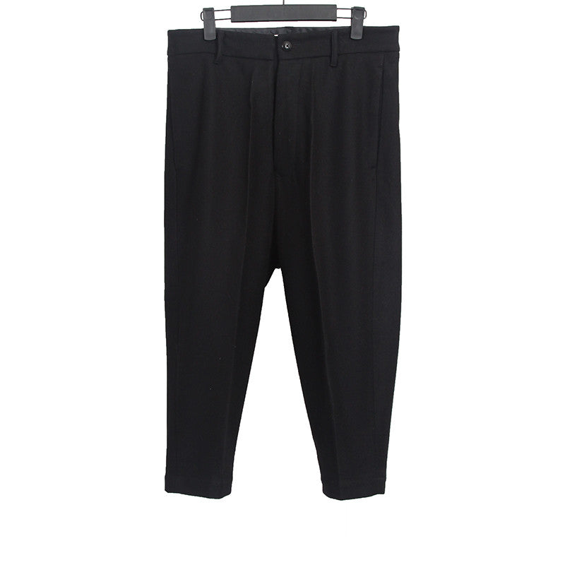 RICK OWENS WOOL XTREME CROPPED CROTCH PANTS