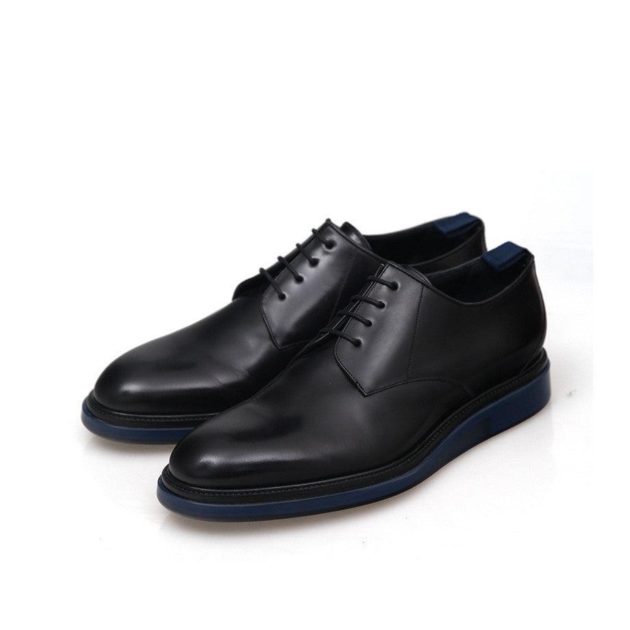 DIOR HOMME AW14 BLUE SOLE CLASSIC LEATHER SHOES – GUYI CONSIGNMENT dbf7e52a23a8