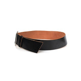 TRICOT COMME DES GARCONS SQUARE BUCKLE WIDE LEATHER BELT