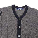 JUNYA WATANABE COMME DES GARCONS MAN 10SS WOOL BLEND STRIPPED LIGHT WEIGHT CARDIGAN