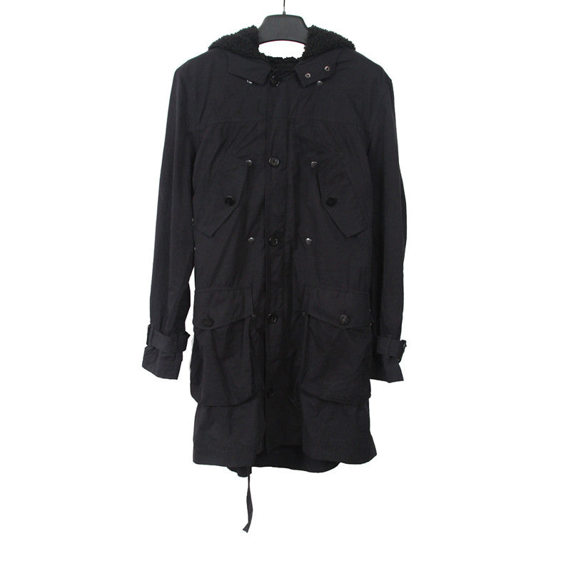 3.1 PHILLIP LIM COTTON/POLYESTER BLEND MULTIPLE POCKETS MILITARY PARKA