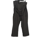 RUNDHOLZ FRONT DOUBLE LEATHER BELT STRAPS WORKER PANTS WITH MULTI POCKETS