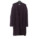 YOHJI YAMAMOTO 13AW MOHAIR BLEND KNITTED BOTTON UP LONG CARDIGAN COAT