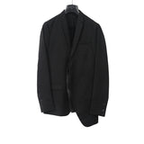 DIOR HOMME WOOL TWO BOTTON SINGLE CALF LEATHER LINING LAPEL BLAZER