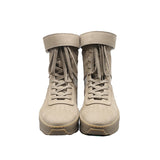 FEAR OF GOD MILITARY LACE UP HIGH TOP SNEAKERS WITH ANKLE STRAP