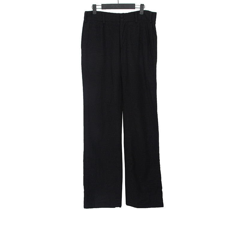 GEOFFREY B. SMALL TWO BUTTON CLOSURE STRAIGHT LEG WOOL PANTS