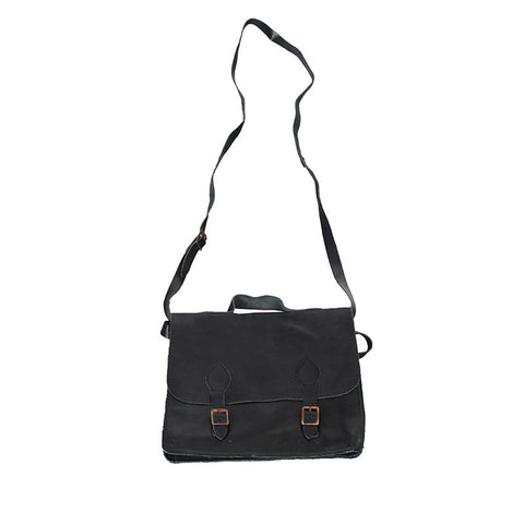"PAUL HARNDEN ""SATCHEL"" TWO WAY BELTED CROSSBODY LEATHER BAG"