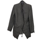 ALEKSANDR MANAMIS DOUBLE LAYERED JACKET WITH RAW EDGE DETAIL