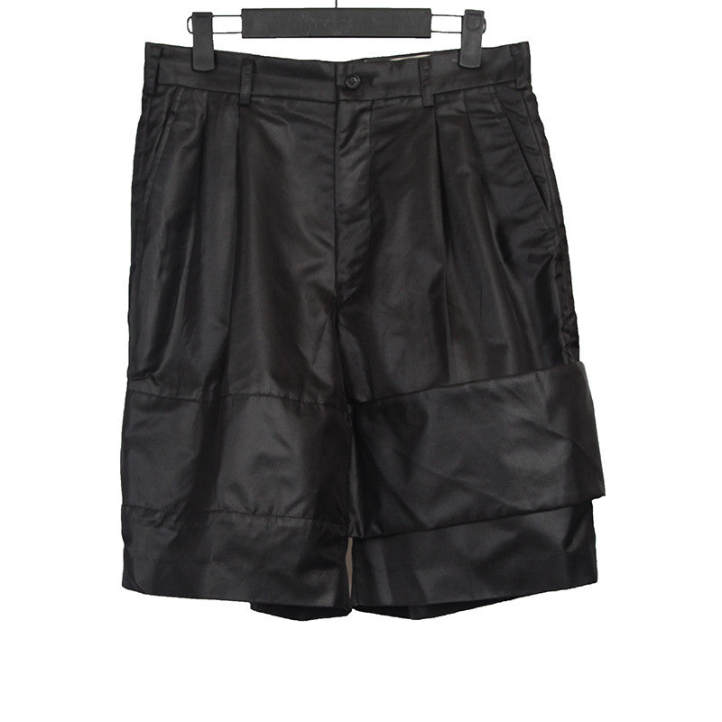 COMME DES GARCONS SHINY SHORTS WITH HORIZON WIDE STRAP DETAIL
