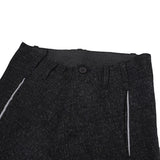 BORIS BIDJAN SABERI 14AW SEAM TAPED STRAIGHT LEG WOOL PANTS