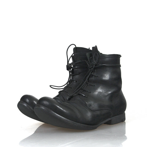 LAYER-0 13AW CARDOVAN HIGH-TOP LACE UP BOOTS