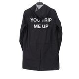 "UNDERCOVER 14SS NYLON ""YOU TRIP ME UP"" WIND BREAKER LONG PARKA"