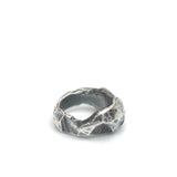 CHIN TEO STERLING SILVER OXIDIZED MYSTERY RING