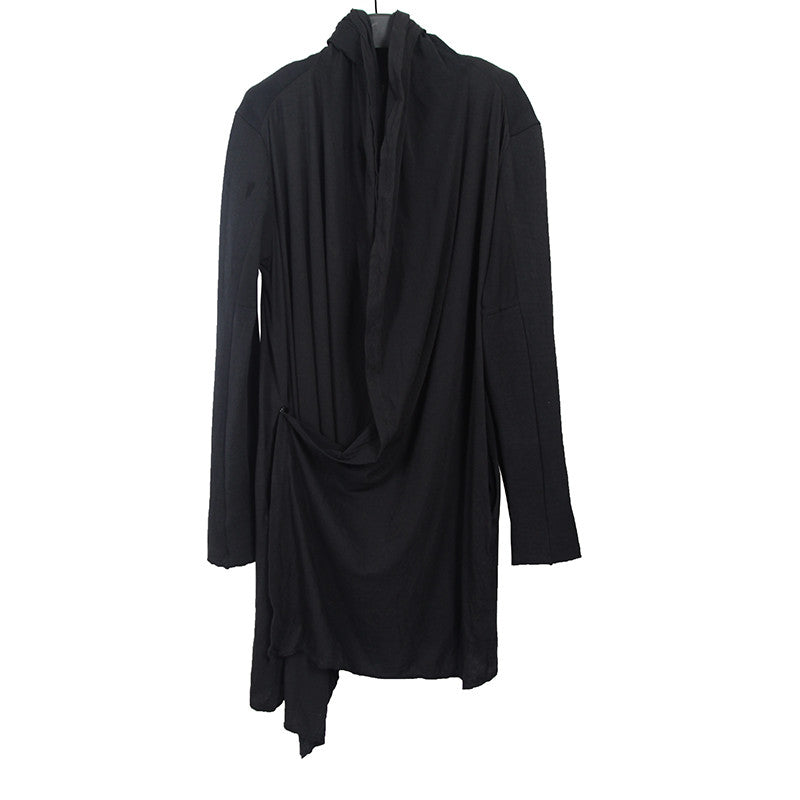 LOST AND FOUND 13AW WOOL BLEND HOODED CARDIGAN