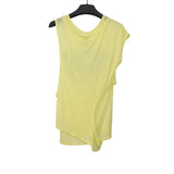 MIHARAYASUHIRO DOUBLER WRAPED SLEEVELESS PRINT T-SHIRT