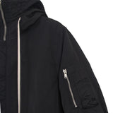 RICK OWENS DRKSHDW PADDED SHORT BOMBER JACKET WITH HOOD