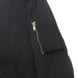 RICK OWENS MA-1 ZIP UP JACKET WITH SIDE POCKET DETAILS