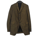 COMME DES GARCONS HOMME PLUS SHINY SINGLE BREASETED BUTTON DOWN BLAZER