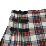 NUMBER (N)INE BY TAKHIRO MIYASHITA PLAID WRAP SKIRT WITH LEATHER DETAIL