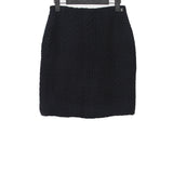CHANEL TWEED CLASSIC BACK ZIP DOWN WOVEN SHORT SKIRT